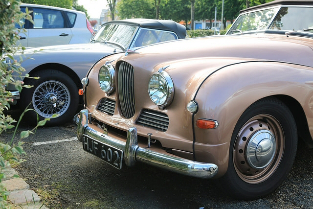 Jowett Jupiter in French ANVE rally Honfleur 2015