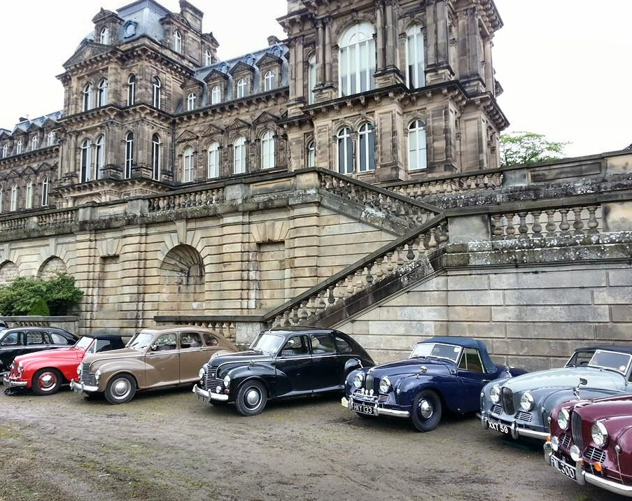 Jowett Jupiters at Bowes Museum, Co Durham in May 2014