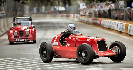 Jowett Jupiter racing in Denmark