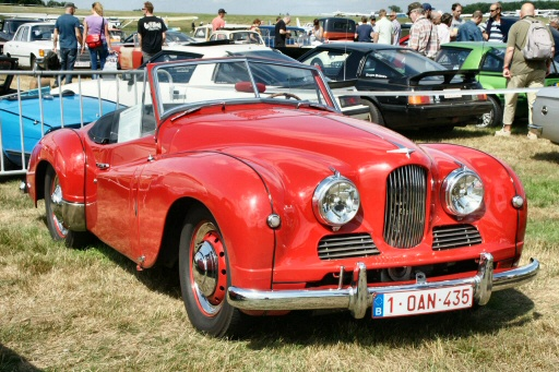 Jowett Jupiter at belgian old-car meet