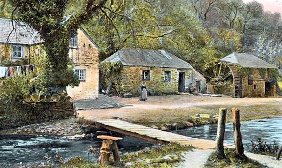 Lawry's water mill at Nanscuval, Cornwall