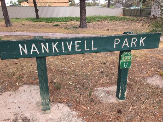Nankivel Park sign in Moonta Australia