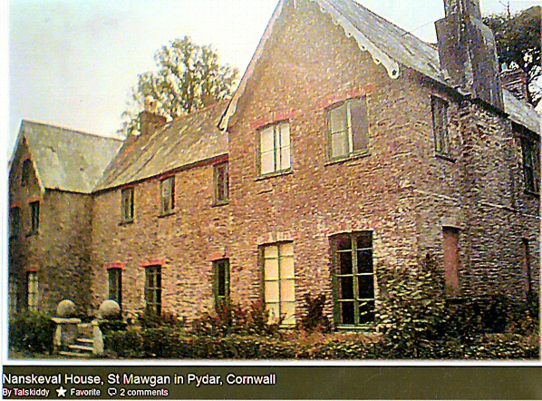 Nanskeval House before demolition - Near St Columb Major Cornwall