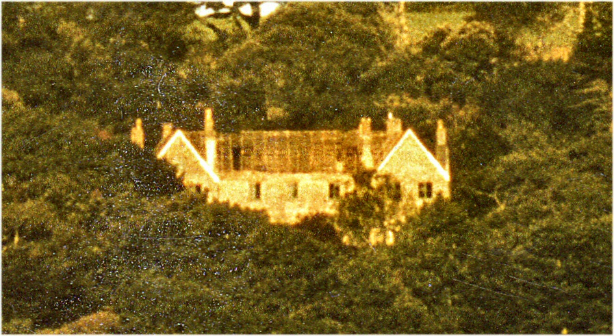 Nankeval House before demolition. Near St Columb  Major Cornwall