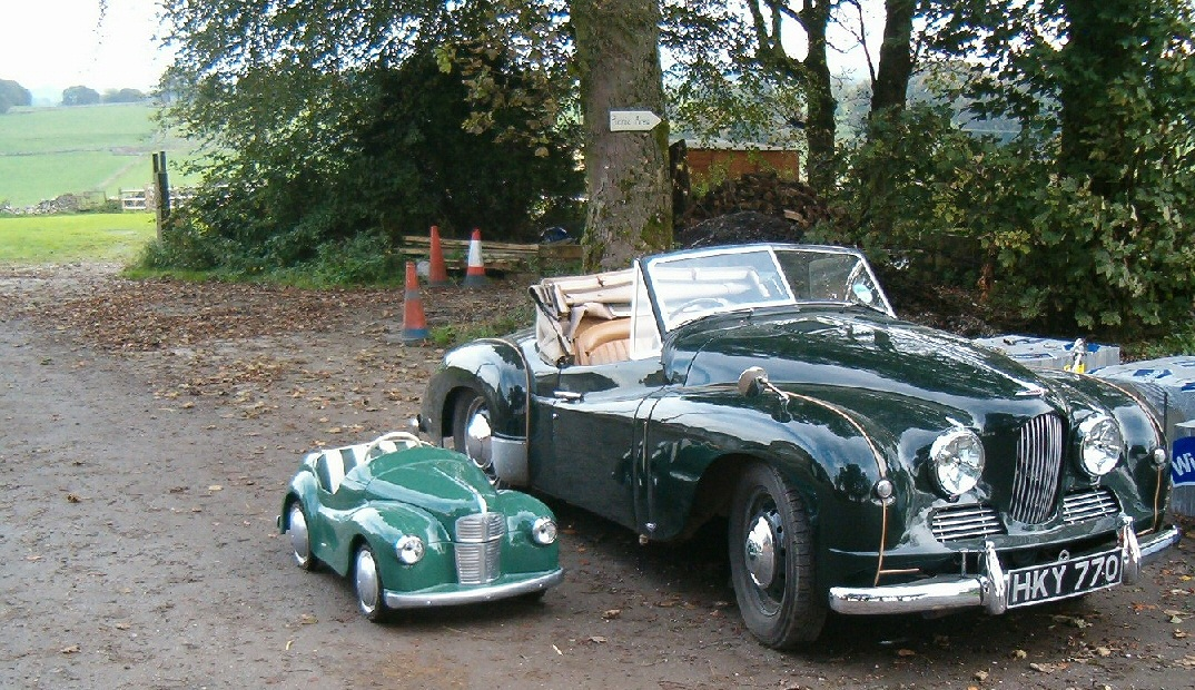 Jowett Jupiter with ex-fairground Austin toy