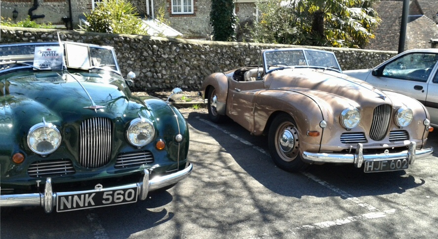 Jowett Jupiter pair at Broghton's Black Lion
