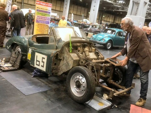 Jowett Jupiter for restoration at a show