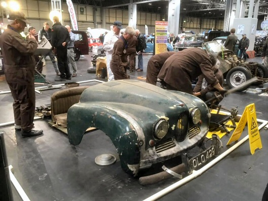 Jowett Jupiter for restoration at a show in 2019
