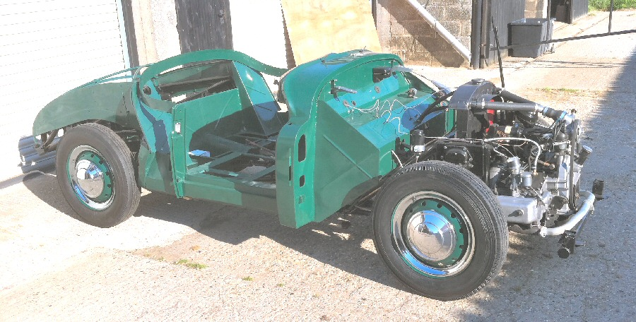 Jowett Jupiter being restored for racing