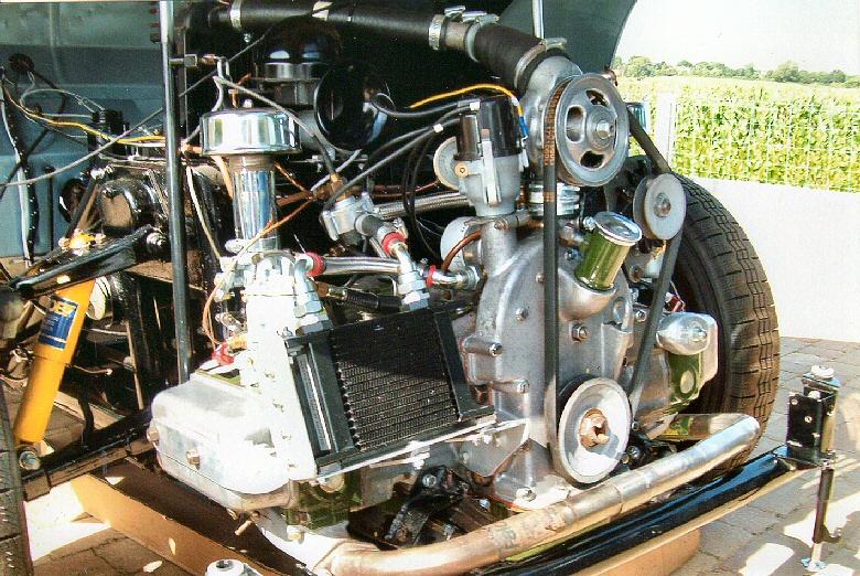 Jowett Jupiter engine bay