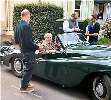 Jowett Jupiter with Tom Conti at the wheel