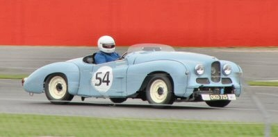 Jowett Jupiter racing at Silverstone in 2013