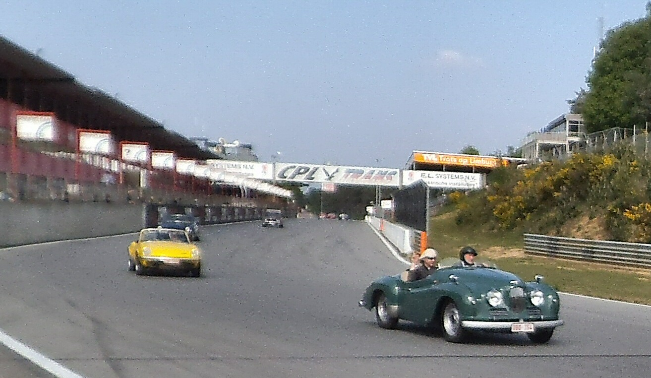 Jowett Jupiter at Zolder  racing in 2013