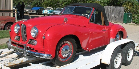 Jowett Jupiter in California well restored and for sale