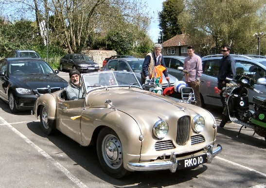 Jowett Jupiter with trafficator working