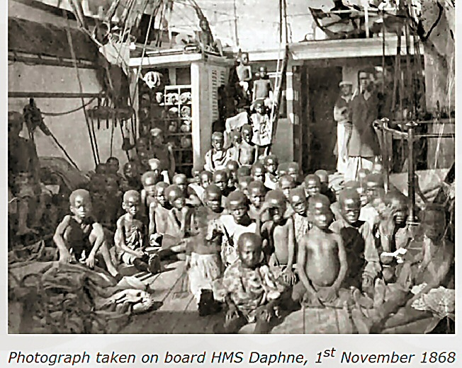 slaves 1868 rescued from Arab slavers by the Bristish Navy
