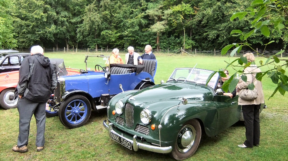 Jowett cars at Titsey House