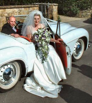 Jowett Jupiter wedding photo